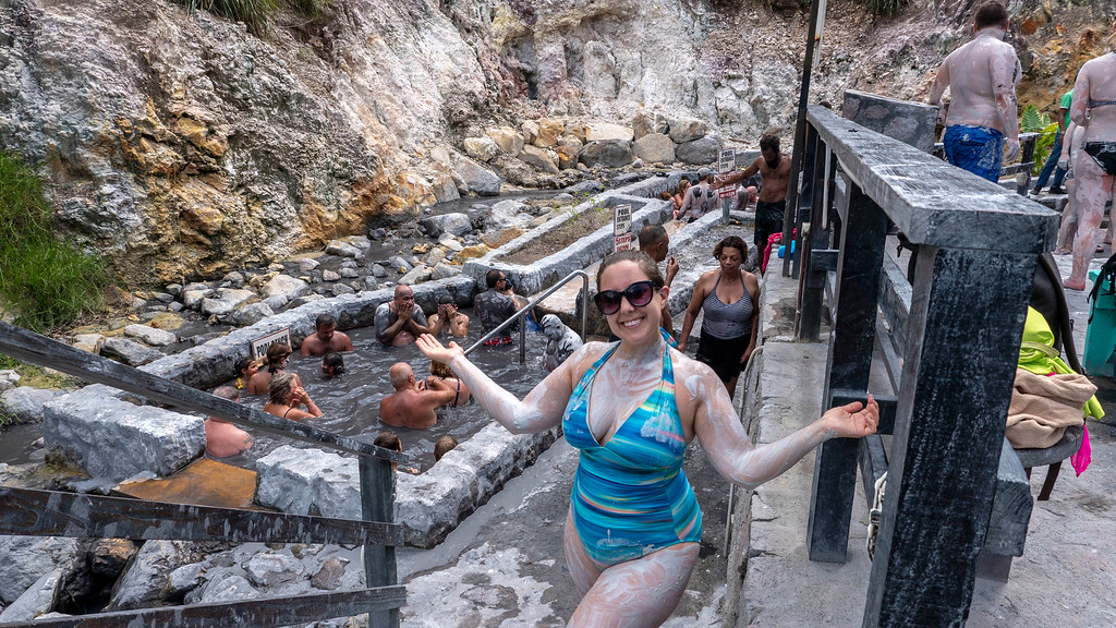 Mud baths at the sulphur springs in Saint Lucia - Things to do in St Lucia
