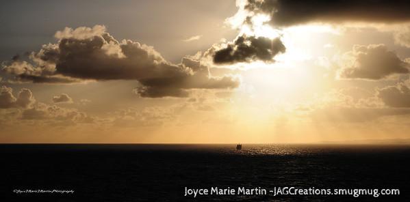 Sunrise of the Puerto Rico coast