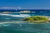 A sand bar on the eastern coast of Saint Martin, French Protectorate, Caribbean.