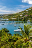Oyster Bay and marina on Saint Martin, French Protectorate, Caribbean.