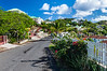 A village street in Saint Martin, French Protectorate, Caribbean.