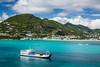 The cruise ship port at Philipsburg, St. Maarten, Caribbean Island.