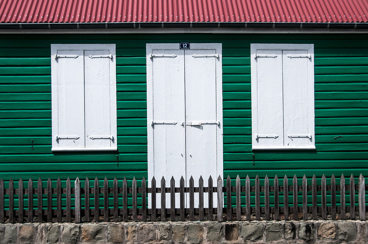 Colorful building in Gustavia, Saint Barthelemy