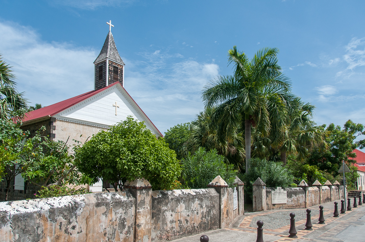 The Anglican Church in Gustavia, Saint Barthelemy
