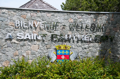 Welcome sign to Gustavia in St. Bart's