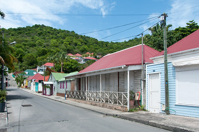 Street scene in the island of St. Bart's