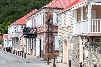 Street scene in Gustavia, Saint Barthelemy