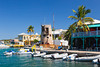 The waterfront shops and restaurants in Christiansted, St. Croix, Virgin Islands, Caribbean, West Indies.