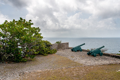 Canons at Fort Oranje, Sint Eustatius