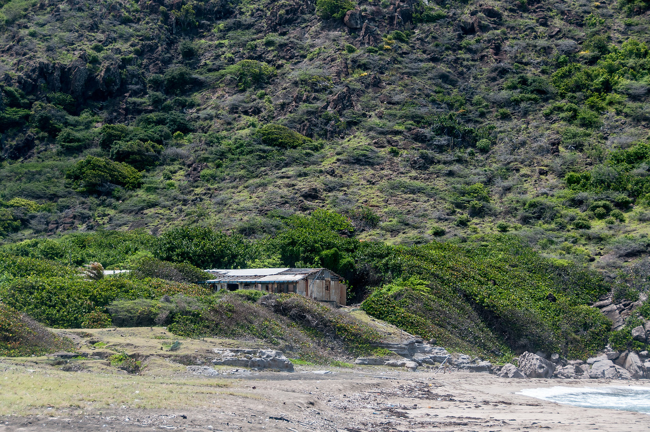 House on the foot of Quill Volcano in Sint Eustatius