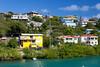 Hillside with apartments and homes near Cruz Bay, St. John, US Virgin Islands.