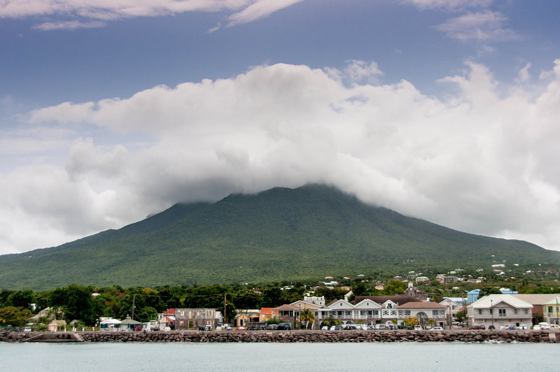 View of Nevis island from the ferry