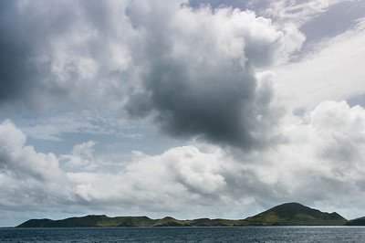 Panorama of Nevis Island in the Caribbean