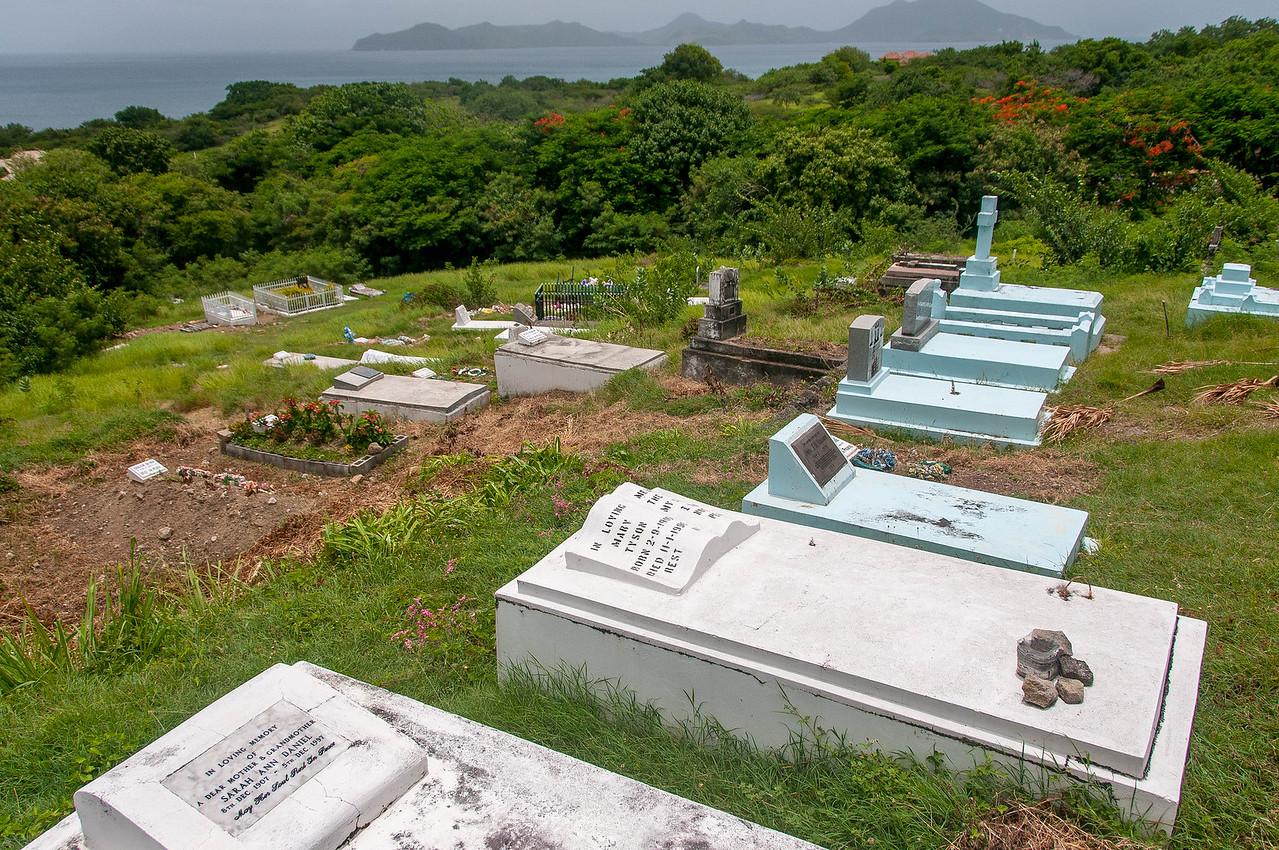 Grave site on Nevis Island