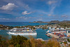 Cruise ships in the port of Castries, St. Lucia, Caribbean, West Indies.