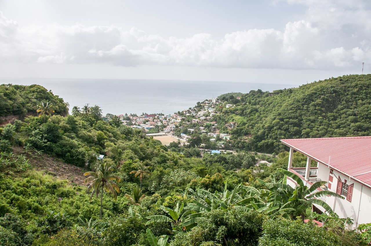 Overlooking view of the island of St. Lucia