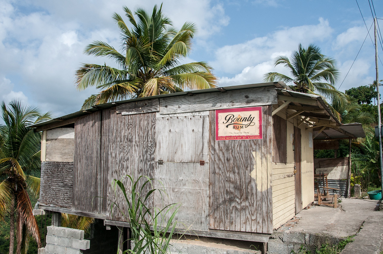 Rum shop on the island of St. Lucia