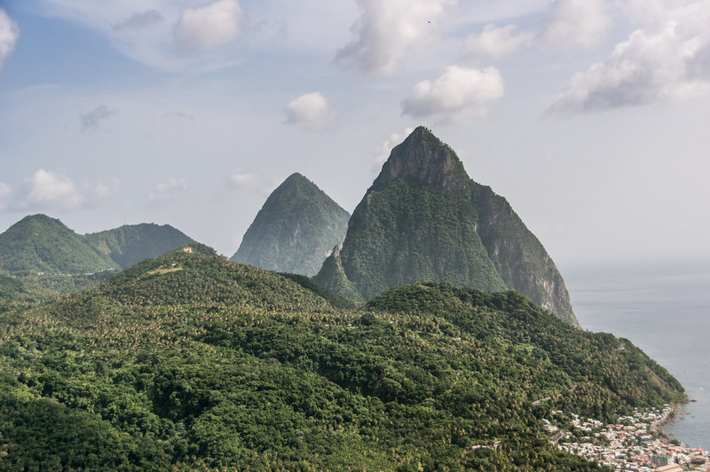 The Pitons on the island of St. Lucia