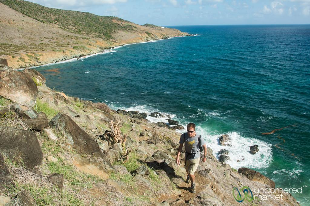 Dan Along the Guana Bay Trek - St. Maarten