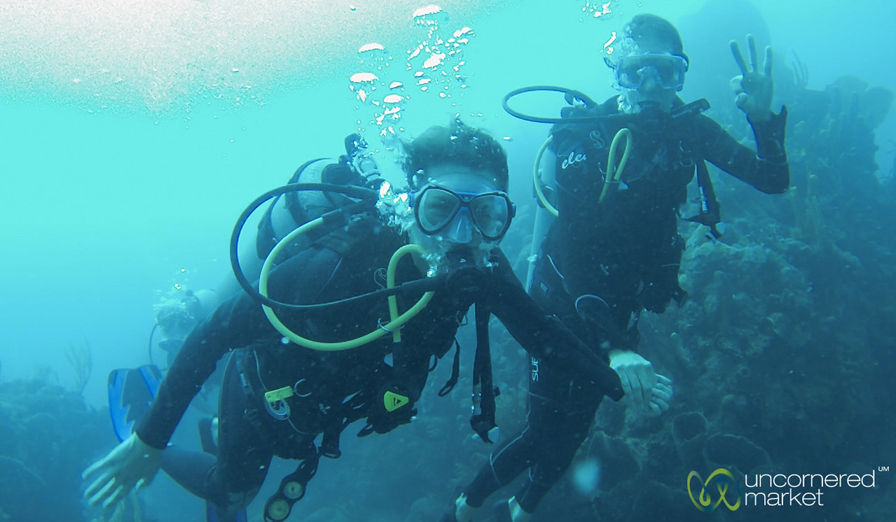 Scuba Diving at Saba Island - Caribbean