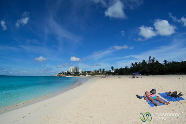 Dan Working on His Tan at Mullet Bay Beach - St. Maarten