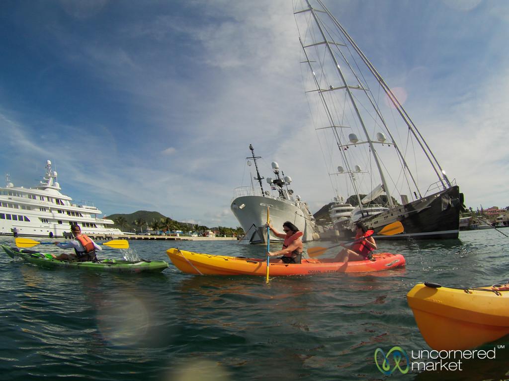 Kayaking Through Simpson Bay Lagoon - St. Maarten