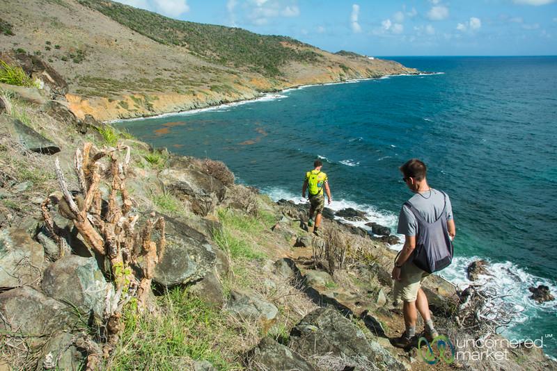 Dan and Joost Along Guana Bay Trek - St. Maarten