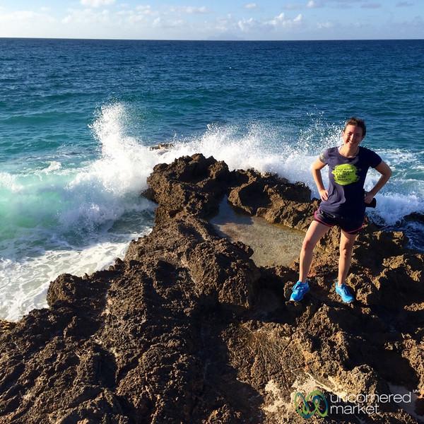 Audrey on Her Morning Run - Cupecoy Bay, St. Maarten