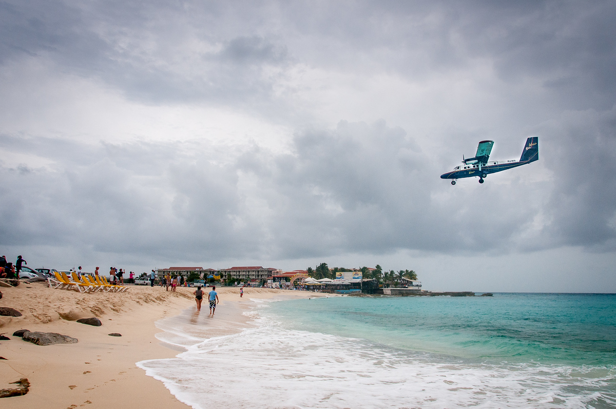 Plane Landing Over Maho Beach, Dutch St. Martin