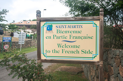 Welcome sign to the island of St. Martin