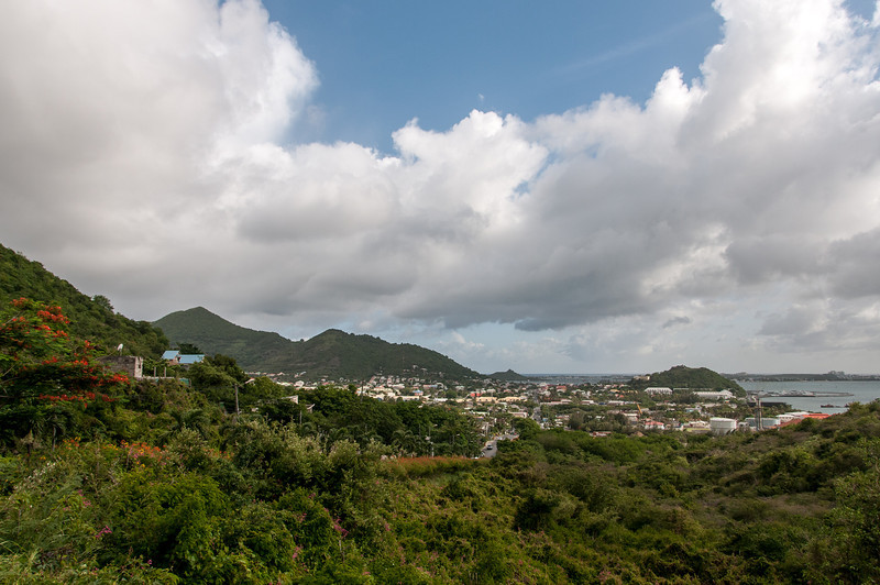 View of the island of St. Martin