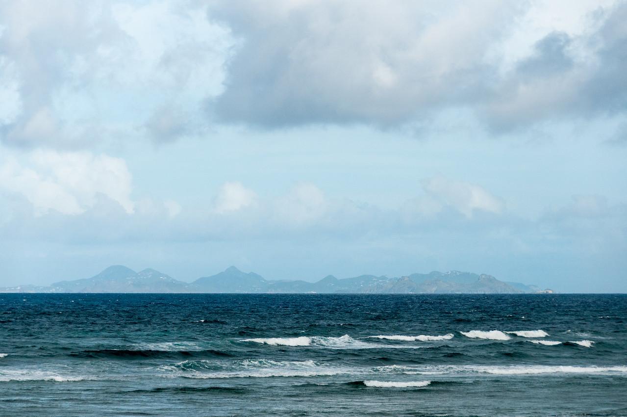Seascape on the island of St. Martin