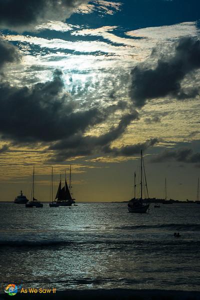 Boats on the water in St Maarten