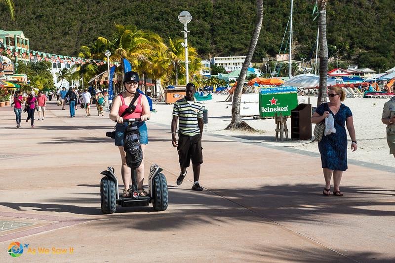 Woman on a segway in St Maarten