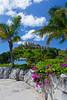 A hilltop condominium complex overlooking the Wyndham Sugarbay Resort on St. Thomas, US Virgin Islands, Caribbean, West Indies.
