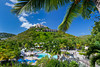 The swimming pool area at the Wyndam Sugar Bay Resort in St. Thomas, US Virgin Islands, Caribbean, West Indies.
