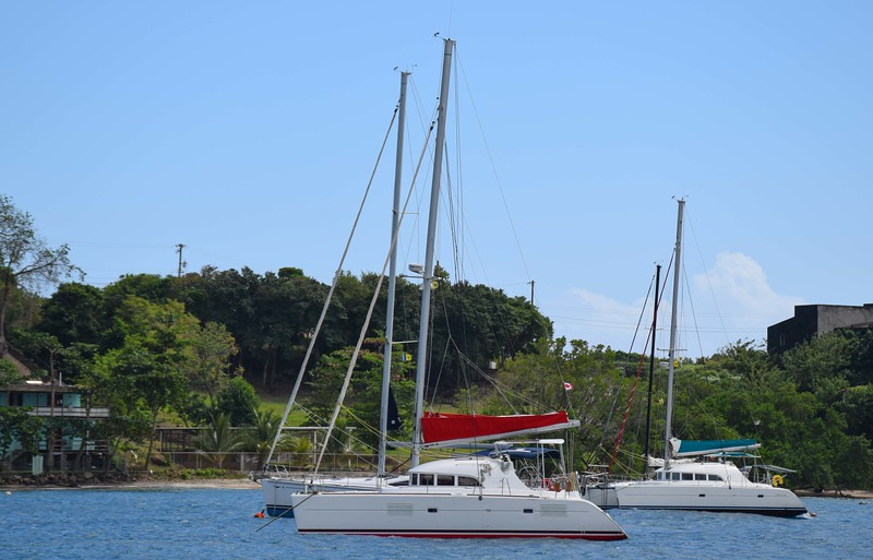 Our catamaran Isaphil