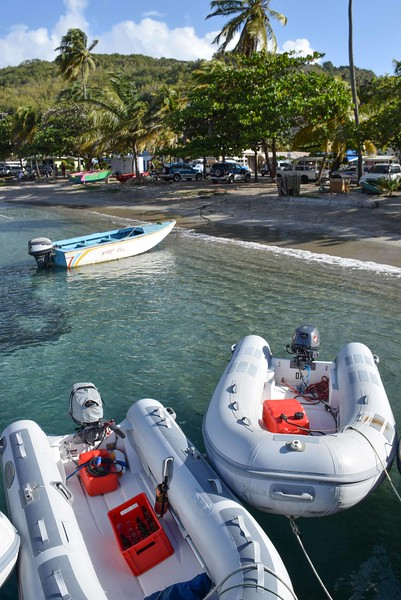 The dinghy dock in Bequia