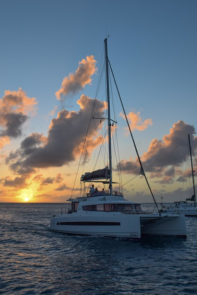 Sunset from our anchorage in Mayreau