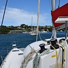 Heading out for our first stop, Bequia