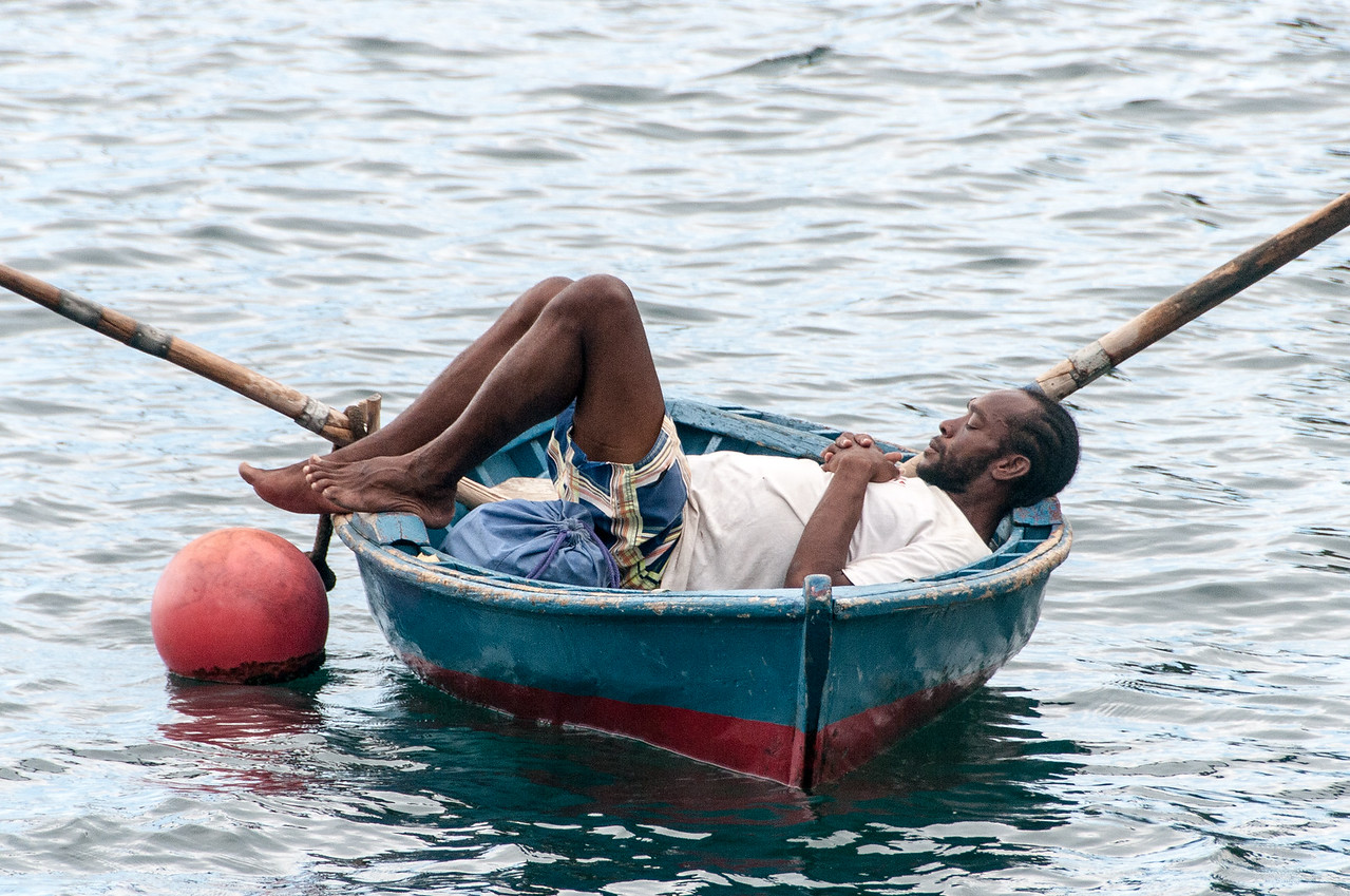 A Boatman Napping Off the Island of St. Vincent