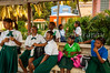 A school and school children in Road Town, Tortola, British Virgin Islands, Caribbean.