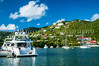 The marina at Road Town, Tortola in the British Virgin Islands, Caribbean.