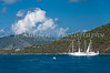Water taxi and pleasure boats in the islands of  Tortola, British Virgin Islands, Caribbean.