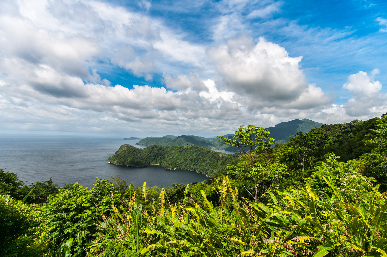 Overlooking view of Maracas Bay in Trinidad, Trinidad and Tobago