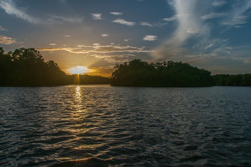 Sunset on the island of Trinidad