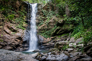 Waterfall in Trinidad. Last stop on my Caribbean tour