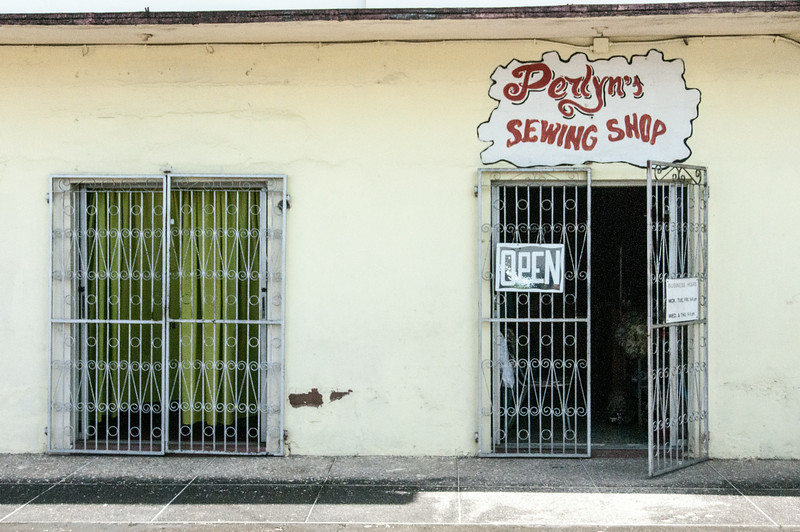 Sewing shop on the island of Trinidad
