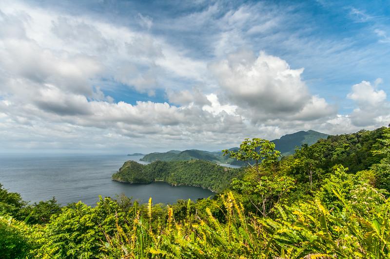 Overlooking view of Maracas Bay in Trinidad