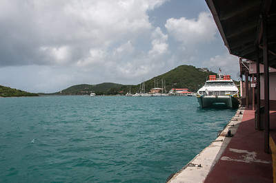 View of the ferry from the station - US Virgin Islands